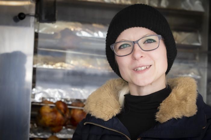 Helena Seibel am B3ö3 Föödspäce
