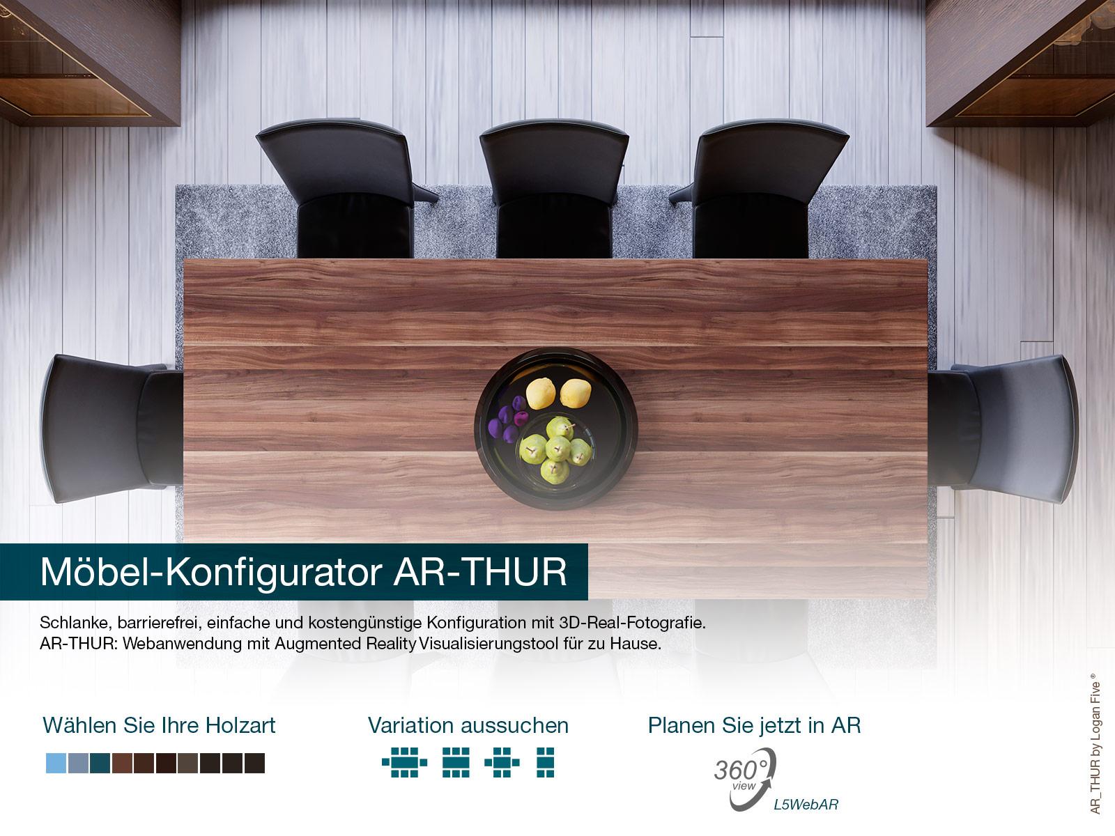 Web-AR Konfigurator, Esstisch-Konfigurator, Esszimmer-Konfigurator