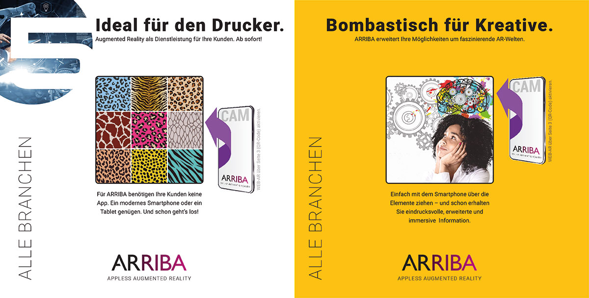 Web-AR ohne App, ARRIBA von Logan Five