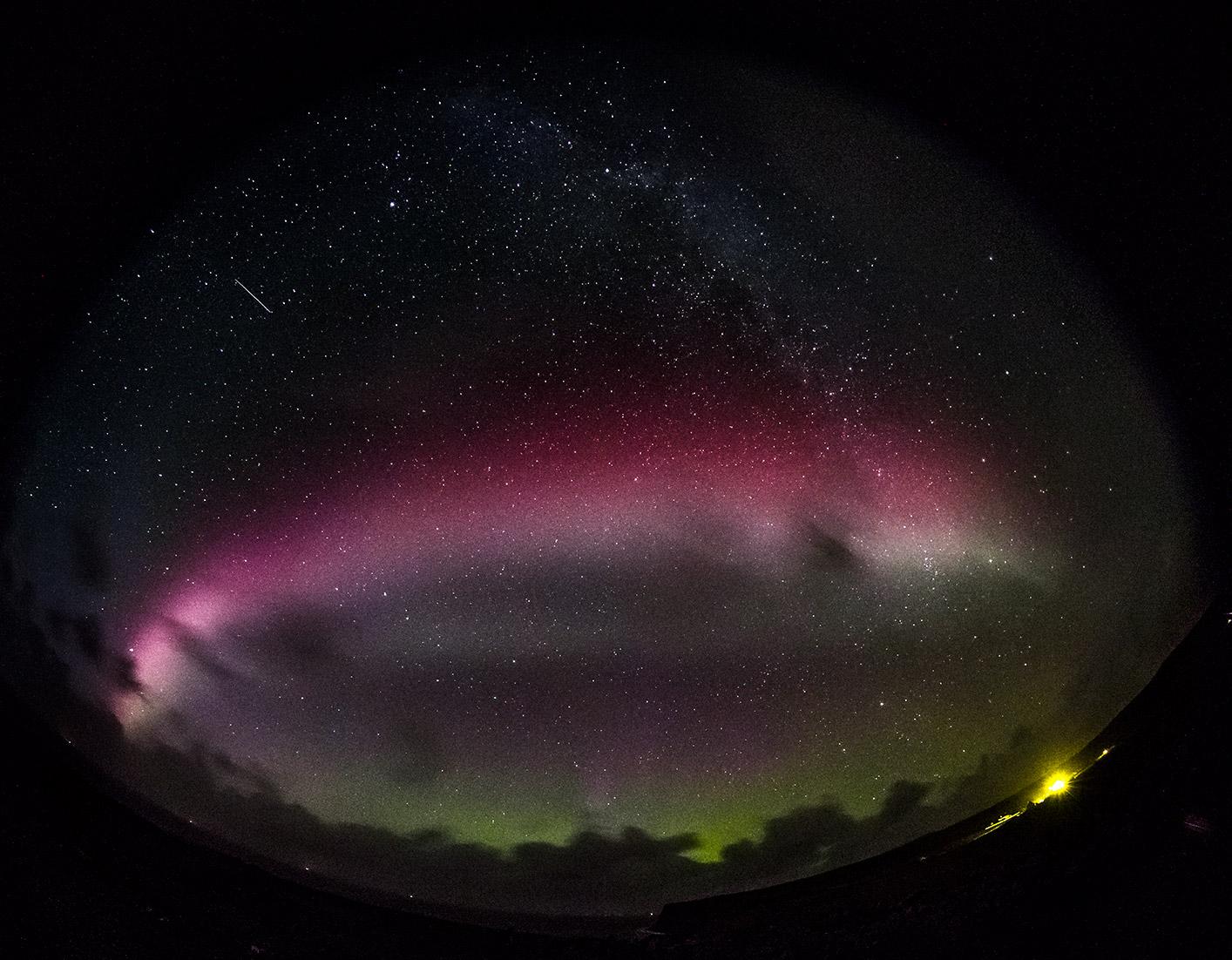 phenomenon Steve, Aurora Borelalis, Scotland