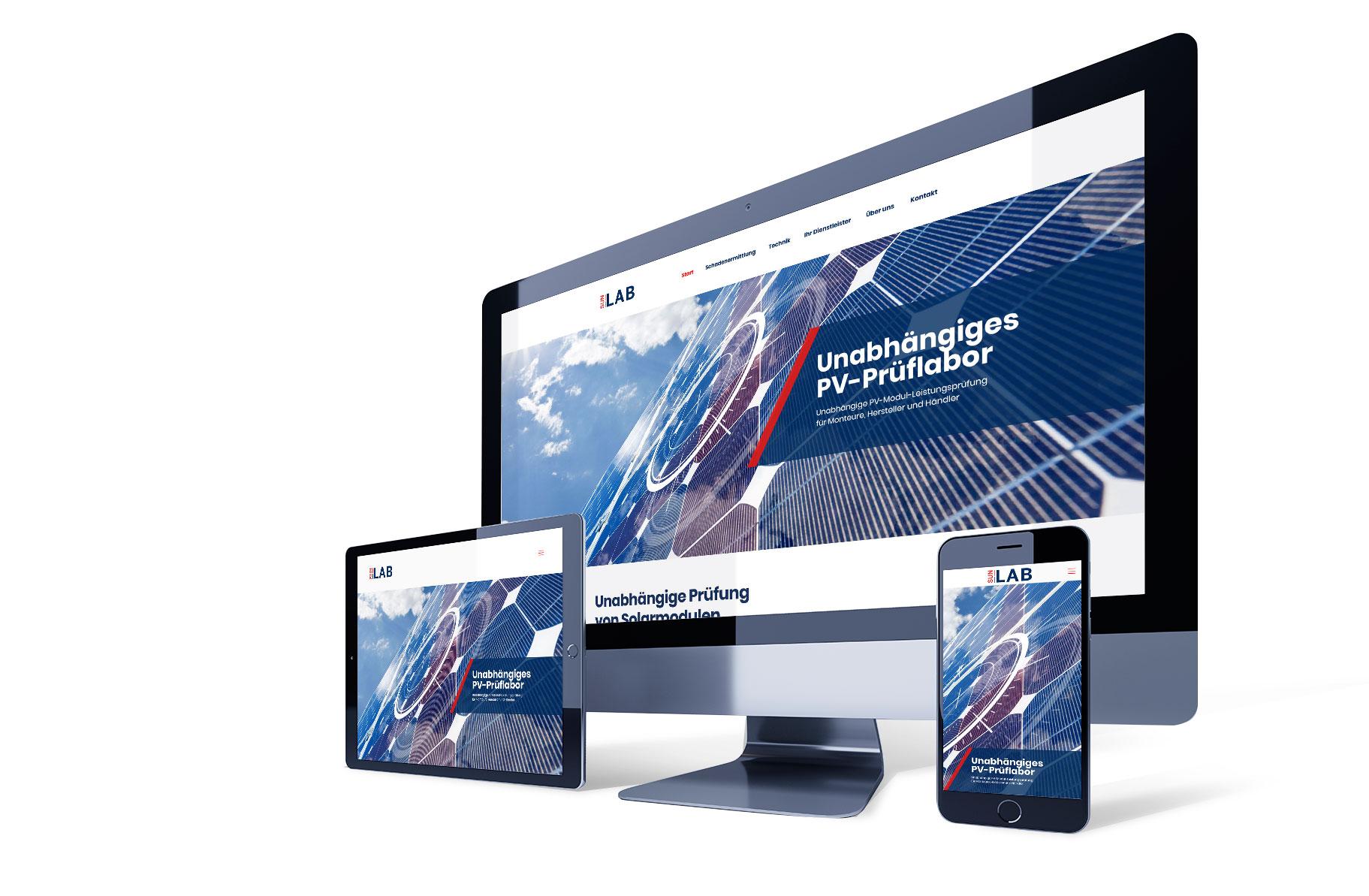 Industrie Webseite