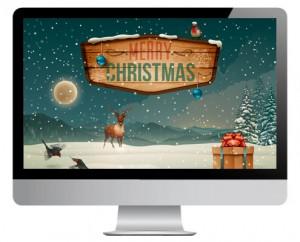 Digitale Weihnachtskarte von Logan Five