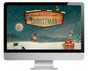 AR-Weihnachtskarte