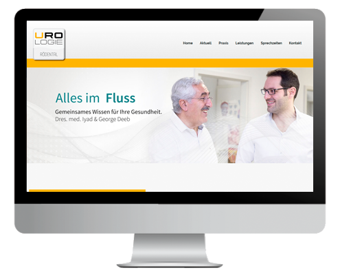 Responsive Webseite Urologie Rödental