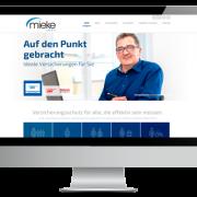Mieke GmbH – Webseite für das Ass im Versicherungswesen