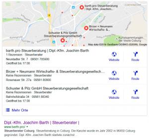Wie komme ich bei Google nach oben