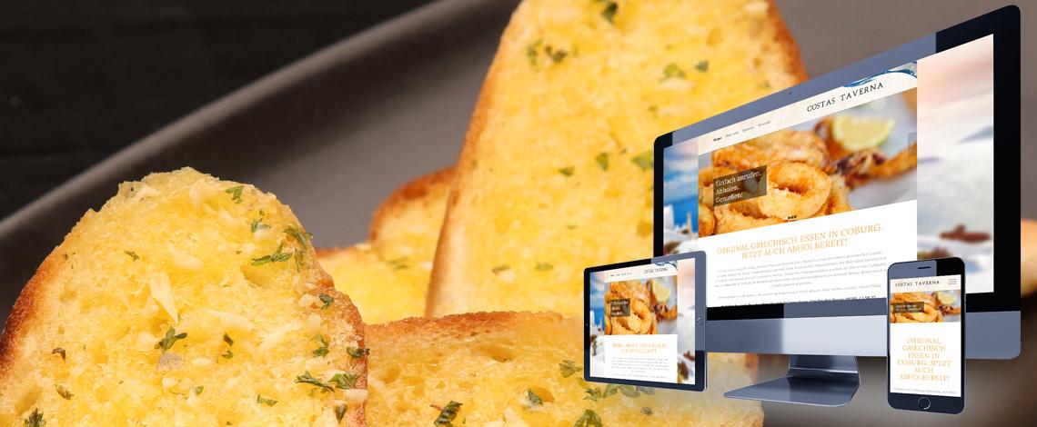 Gastronomie Webseite