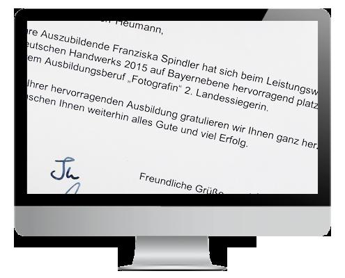 Franziska Spindler zweite Landessiegerin